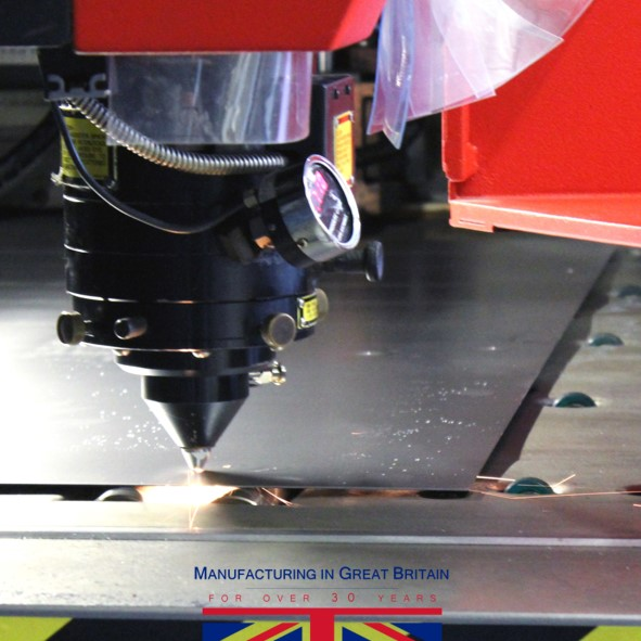 Precision metal work laser cutter
