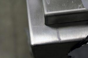 Stainless steel metalwork welding detail