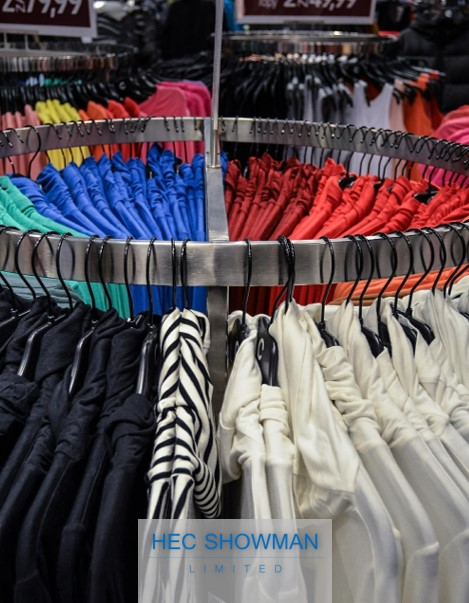 Retail metalwork clothes hanging frame